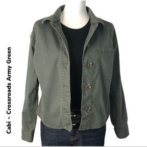 CAbi Crossroads Army Green Jacket  #5298